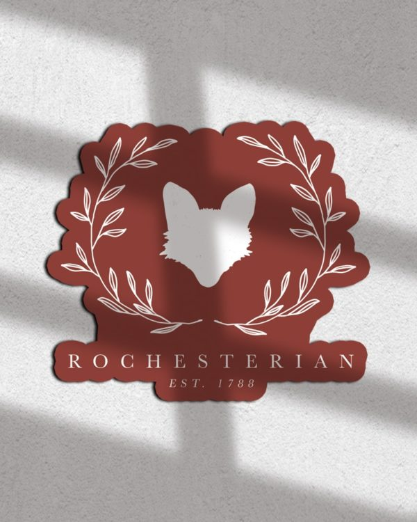 Rochesterian Sticker - Rochester NY Gifts - Gray Gloria