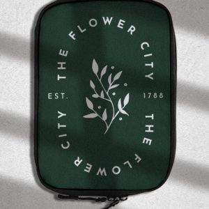The Flower City - Luggage Cube - Rochester NY Gifts - Gray Gloria