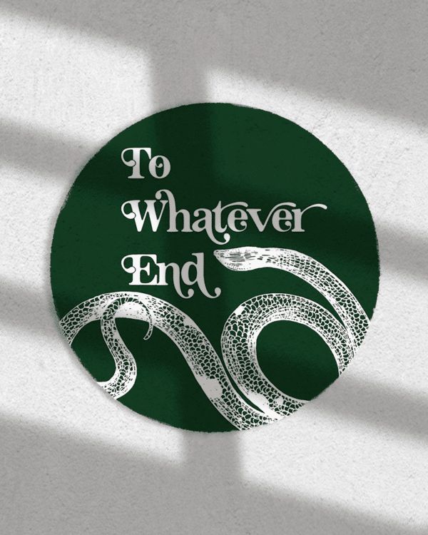 To Whatever End Sticker - Rochester NY Gifts - Gray Gloria