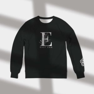 East End Foliage Crewneck in Black - Rochester NY Gifts - Gray Gloria
