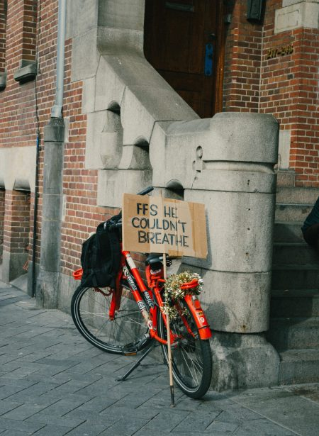 sign-next-to-bicycle-4561557